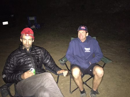 Mike and JP at the DPMR aid station at Cal 2.