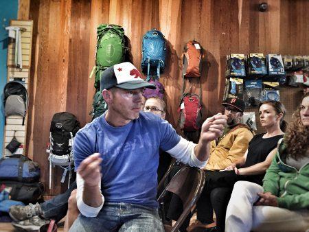 Chris Perillo answering questions. Photo by Jenelle Potvin