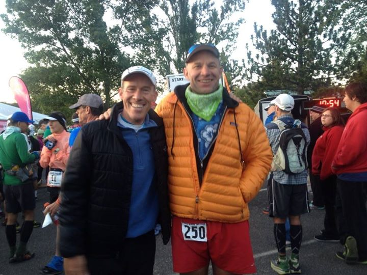 John Trent and Andy waiting at the start. photo by Chris Michele