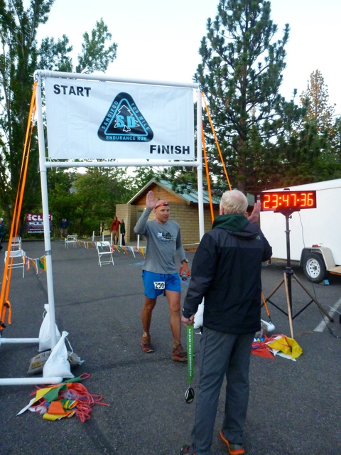 A very hard-earned sub-24 finish. Photo by Chris Michele