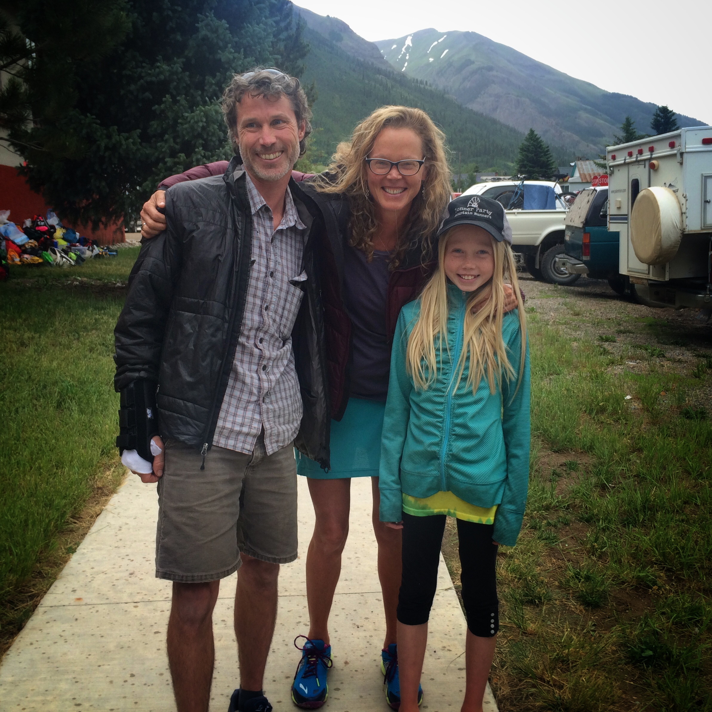 Paul, Betsy, and Lizzie at the 2015 Hardrock