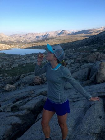 Audrey starting my favorite new tradition. Taking shots on peaks above 11k!!