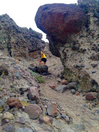 Peter Fain climbing the slot in the Palisades (Photo: Chaz Sheya)