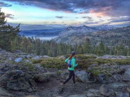 Gretchen Brugman on the Donner Lake Rim Trail (Photo: Jenelle Potvin)