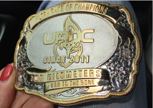 Finisher's Belt Buckle. Photo: Daniela Porri