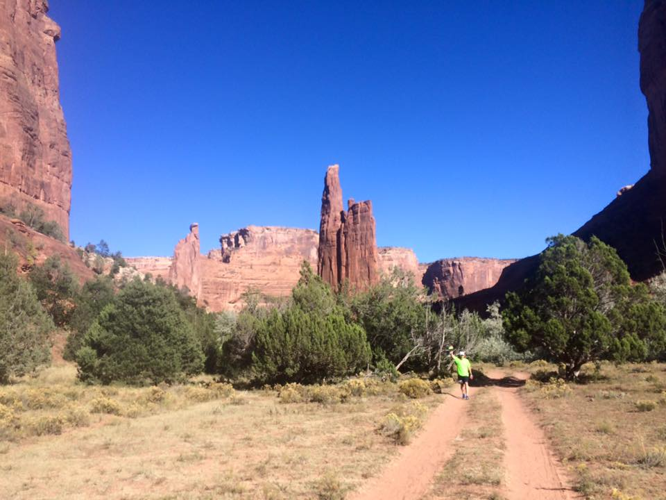 Approaching Spider Rock. Photo: Bonnie Porter