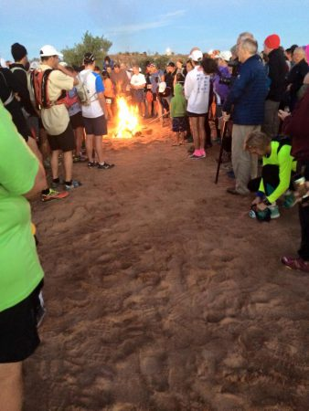 Fire burning at the start. Photo: Dan Baxley