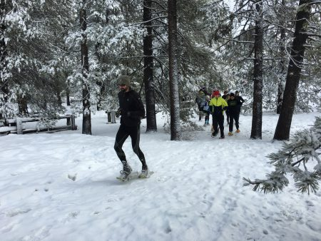 Peter Fain leads the crew at Donner Memorial State Park.