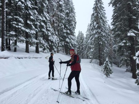 XC Skiing at Fredonyer Pass. Photo courtesy Linda Powell