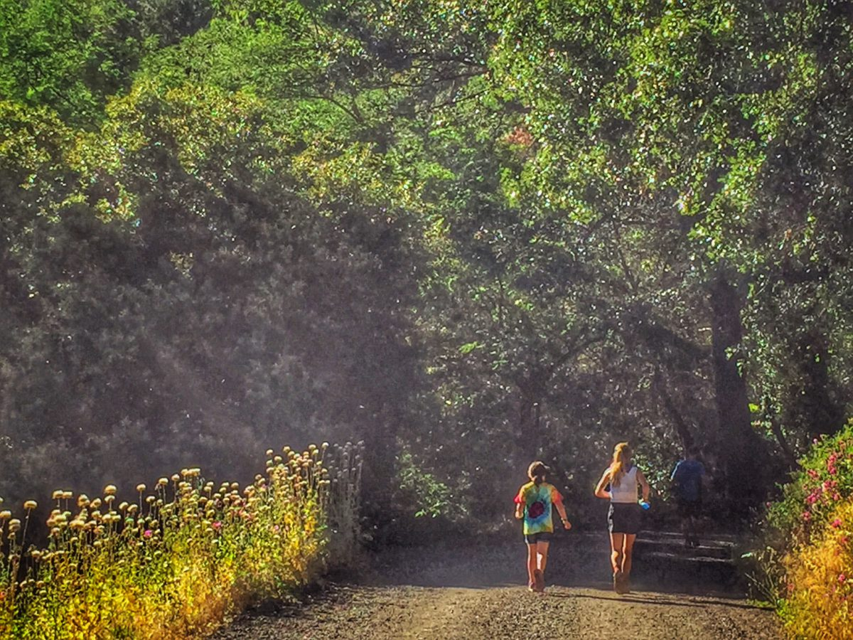 Avian and I leaving Michigan Bluff. Photo Cred Jenelle Potvin