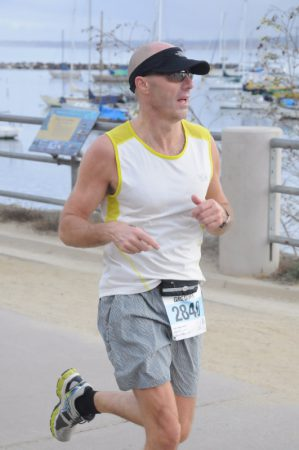 Greg at the Monterey Bay half marathon. Photo: Curtis Haupert