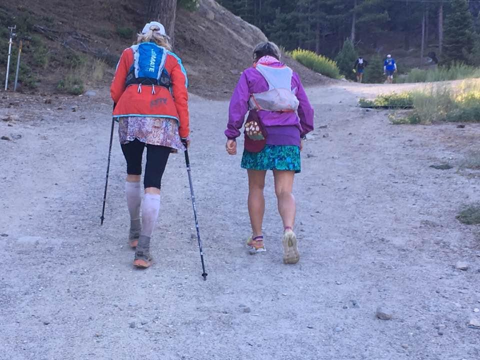 Sharon and Kristin on the Diamond Peak climb